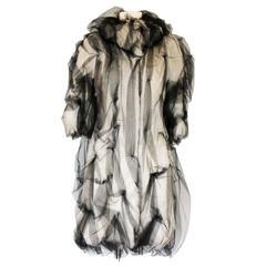 Iconic DOLCE  & GABBANA 2007 Couture Evening Tulle Alpaca Fur Coat