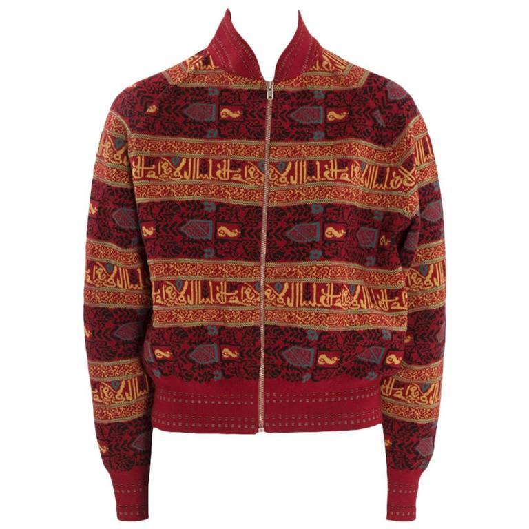 Alaia Wool Knit Zipped Bomber Jacket, Fall-Winter 1990-1991 1