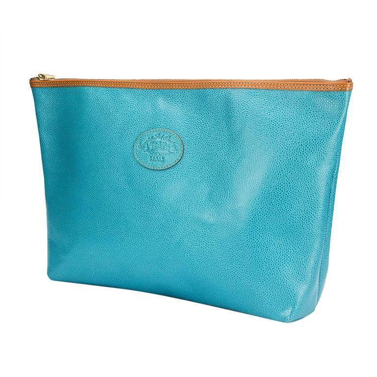 Leather Clutch Bag by Comptoir Sud Pacifique Paris France For Sale