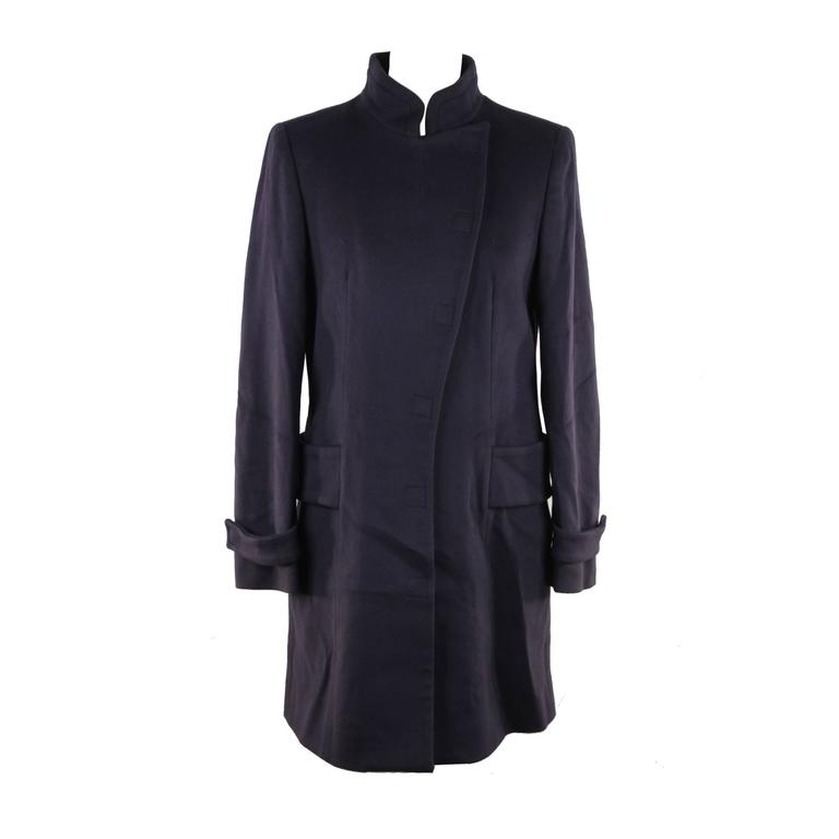 Versace Italian Blue Wool Coat, 2008 Fall Winter Collection