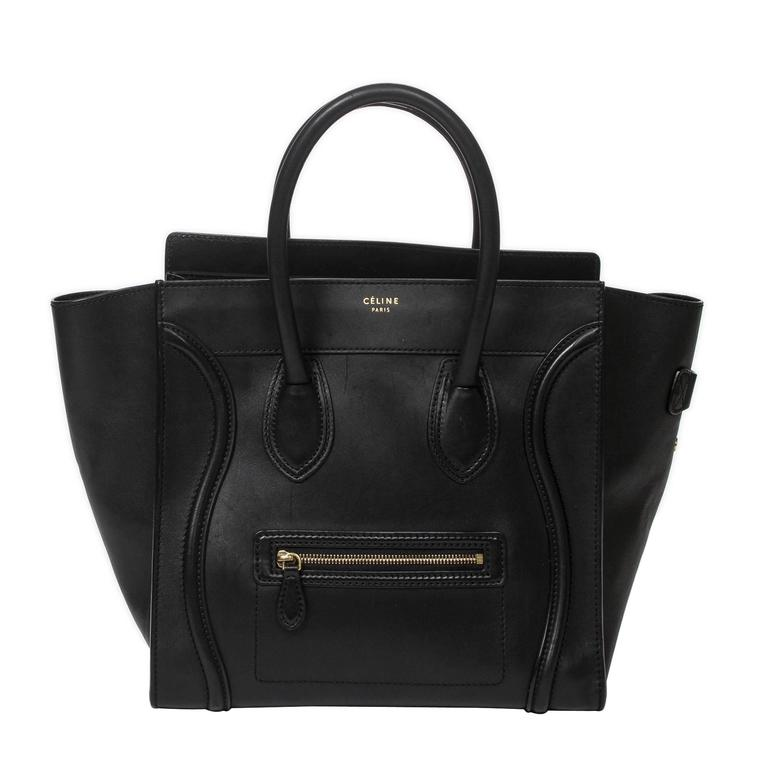 Luggage Tote Mini Black Leather For Sale