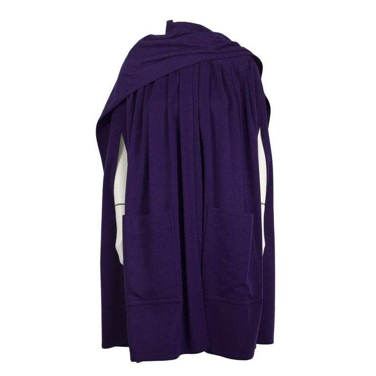 1980's Scherrer Purple Wool Cape