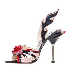 Prada Jewel Toe Tail Light Flame Sandals Spring - Summer 2012