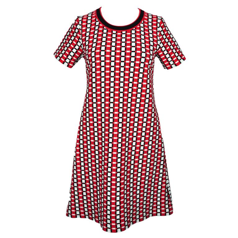 Prada 2015 S/S Multi-color Slip-on Checked Knit Dress