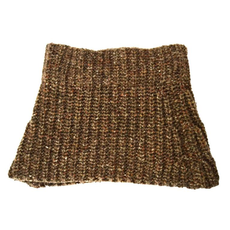 Brunello Cucinelli Brown Knit Cashmere Snood 1