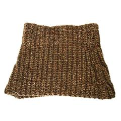 Brunello Cucinelli Brown Knit Cashmere Snood
