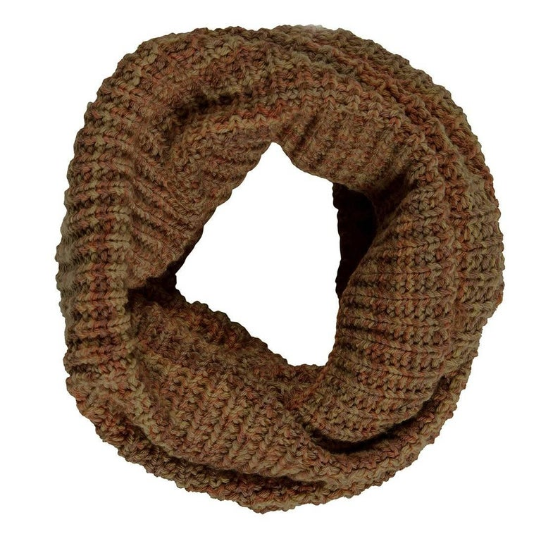 Brunello Cucinelli Brown Knit Cashmere Snood For Sale