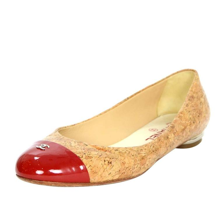 Chanel Red Patent Shoes