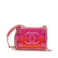 Chanel Boy Brick Flap Patent and Plexiglass Mini