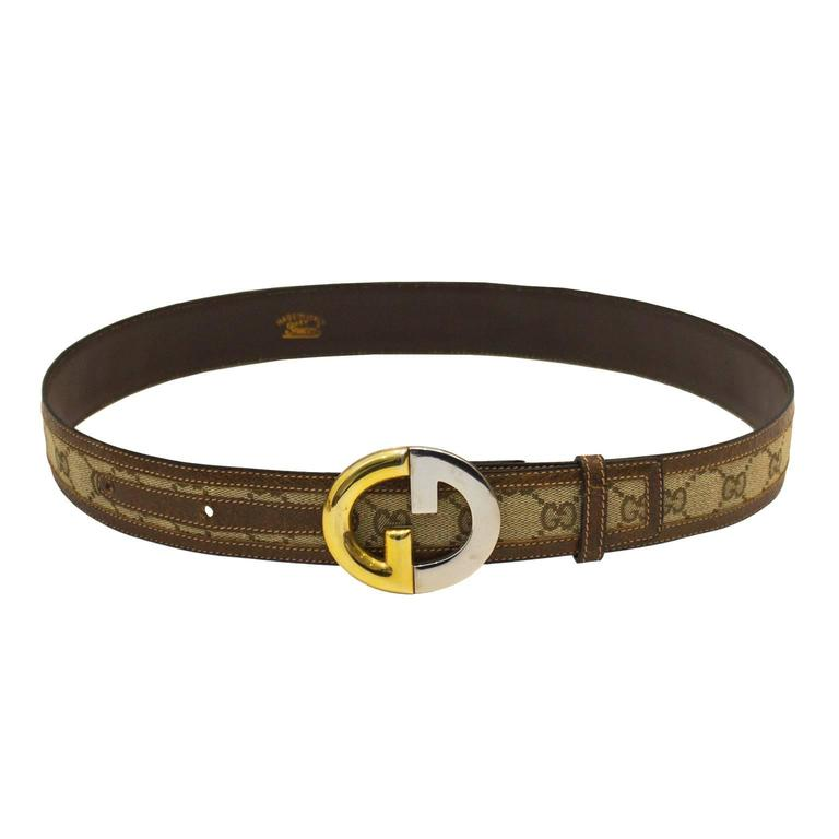 1970s Gucci Monogram Belt