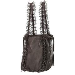 Tom Ford for Yves Saint Laurent Fall 2003 RTW Leather & Lace Bag Velvet ribbon