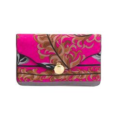 Gorgeous Emilio Pucci Silk Foliage clutch 70s