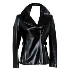 Azzedine Alaia Timeless Black Leather Biker Jacket