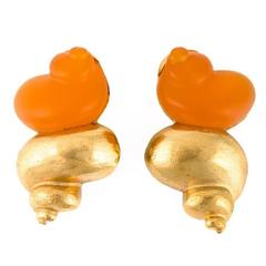 Dior Shell Clip-on Earrings