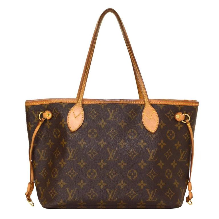 Louis Vuitton Monogram Canvas Neverfull PM Tote Bag GHW For Sale