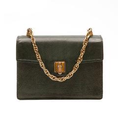 Gucci Vintage Lizard Skin Handbag