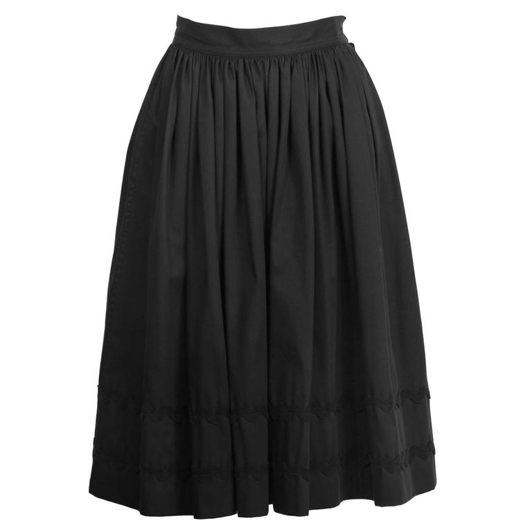 1970's Yves Saint Laurent YSL Dirnl Skirt with RickRack Detailing