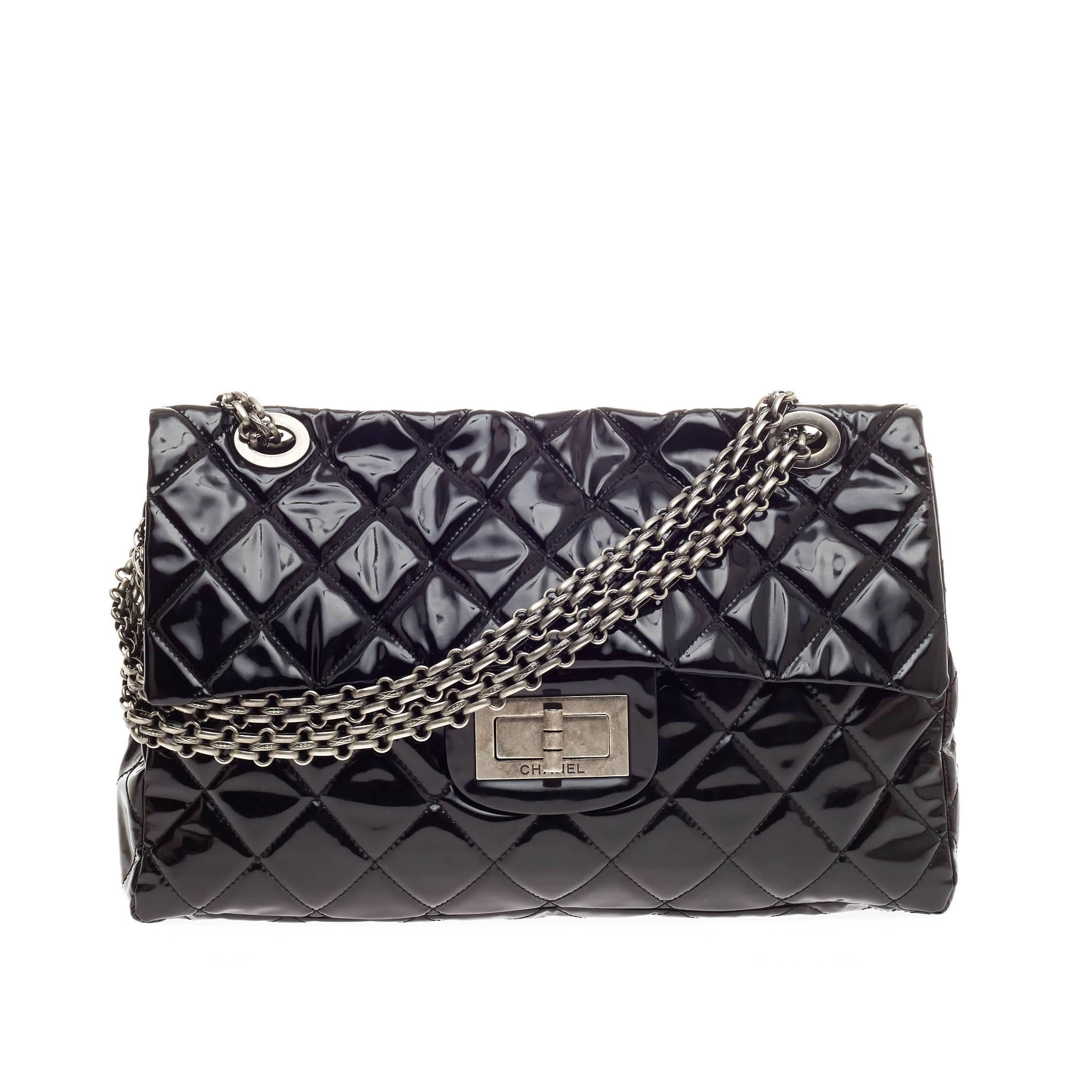 a9b37aebe4d9 Chanel Reissue 2.55 Quilted PVC XXL at 1stdibs
