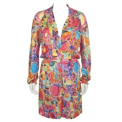 2008 Chanel Floral Jersey Day Dress