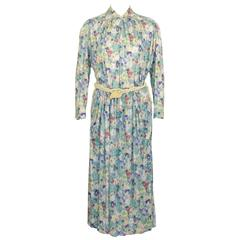 1970's Missoni Floral Ensemble with Rope Belt