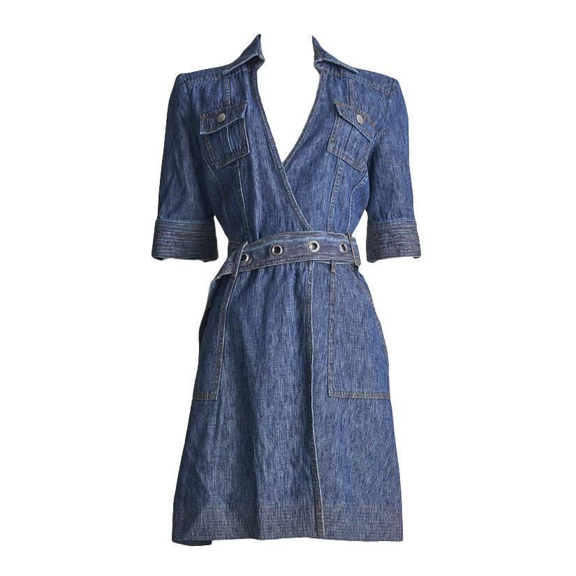 Diane Von Furstenberg Denim Jean Wrap Dress At 1stdibs