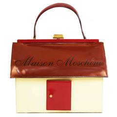 Moschino Mansion Patent Leather Handbag