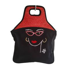 Spring 2000 Lulu Guinness Embroidered Face Tote - Never Used