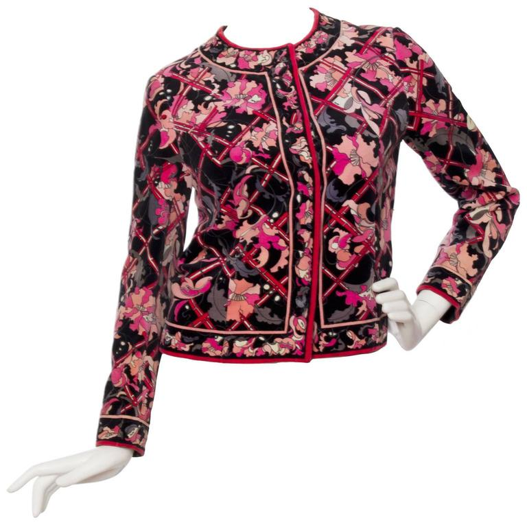 1960s Emilio Pucci Printed Cotton Jacket