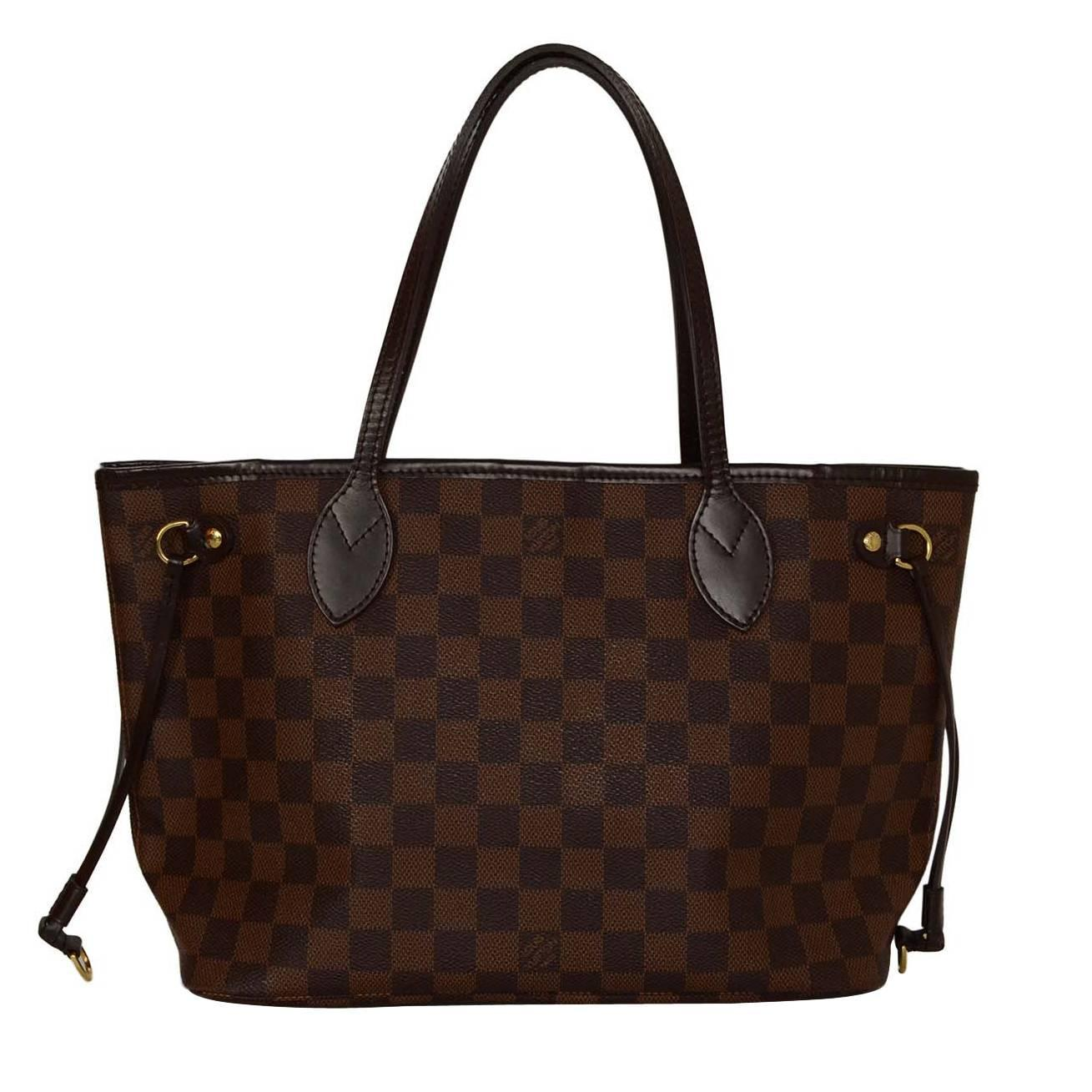 louis vuitton damier coated canvas neverfull pm tote bag at 1stdibs. Black Bedroom Furniture Sets. Home Design Ideas