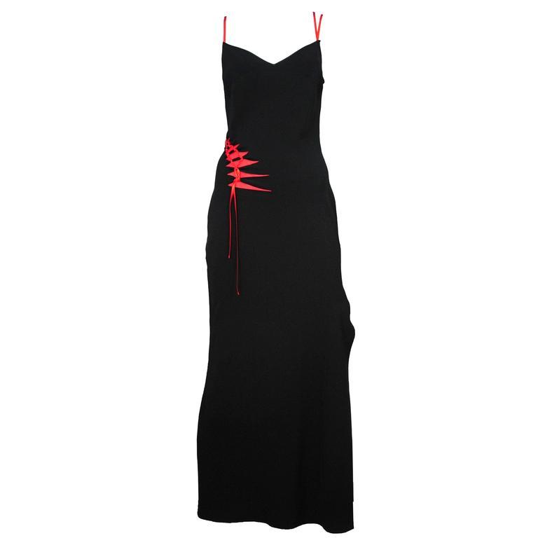 John Galliano Bias Ribbon Gown 1