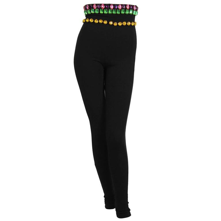 1980's Dolce and Gabanna Jeweled Leggings 1