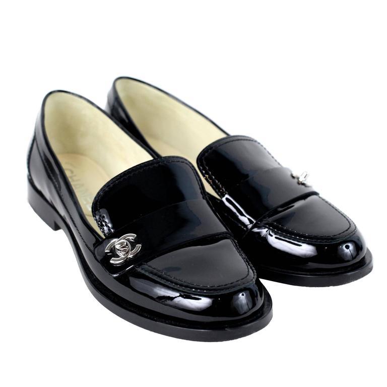 Chanel Loafer Black W Cc 36 At 1stdibs