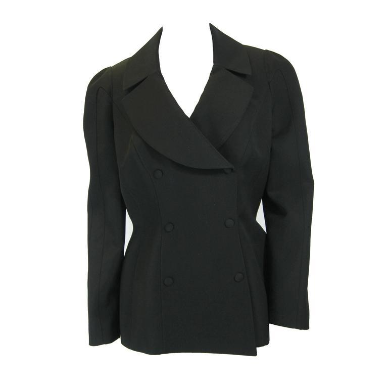 Thierry Mugler Black Suit Jacket