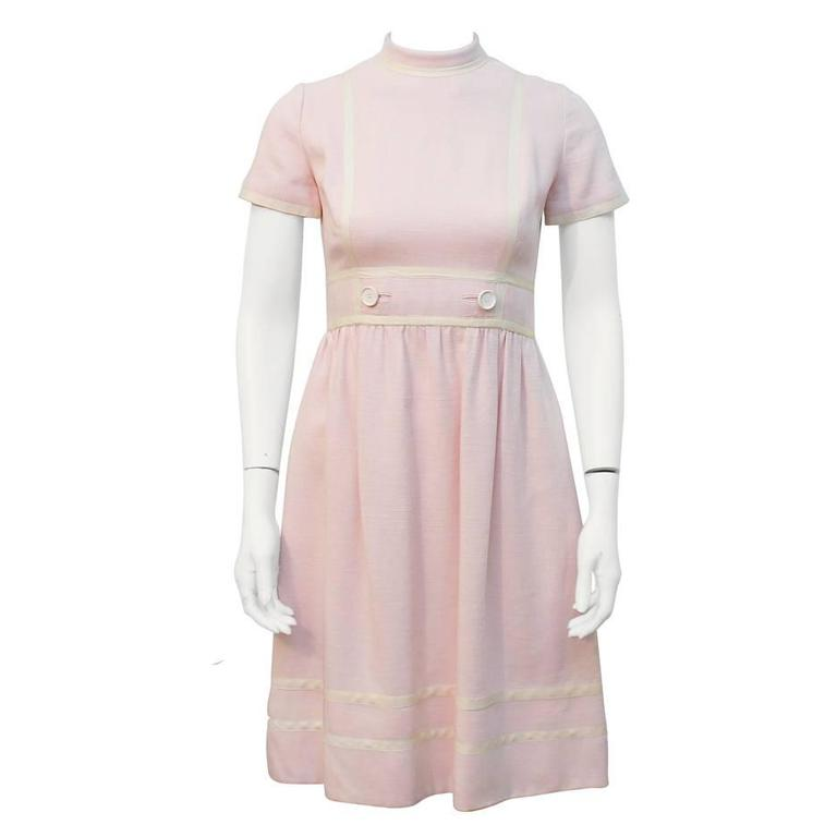 1960's Geoffrey Beene Pink Linen Dress