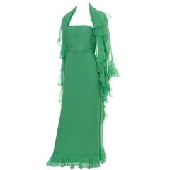 Wayne Clark Silk Chiffon Dress and Shawl Harriet Kassman Boutique Washington