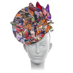 Philip Treacy Wired Polychrome Butterfly Fascinator Circa 2003