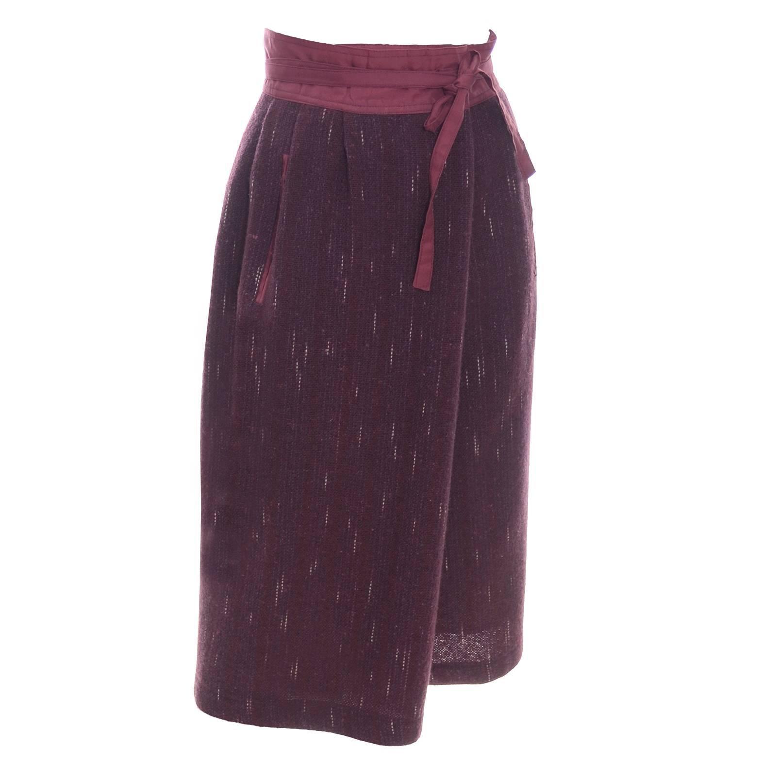 Kenzo Vintage Skirt Rare Jap Label Made in France Unique style Wool Lined Pocket