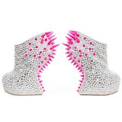 Guiseppe Zanotti Swarovski Crystal & Pink Spiked-Embellished Wedges Fall 2012