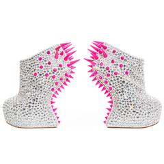 Guiseppe Zanotti Swarovski Crystal & Spike-Embellished Wedges Fall 2012