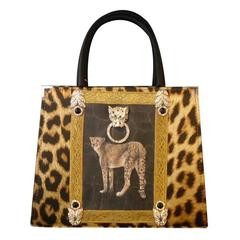 Carlo Zini Milano Printed Cheetah bag