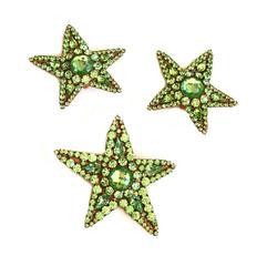 Yves Saint Laurent Rive Gauche Star Earrings and Pendant / Pin