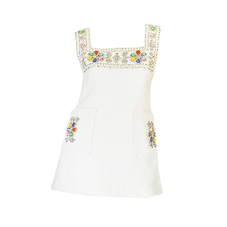1960s Beni Salvadori Jewelled Couture Tunic or Mini Dress 1