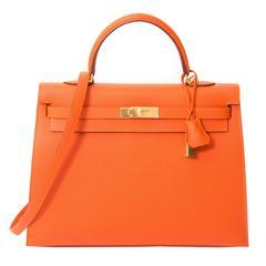 Hermès Kelly 35 Feu Epsom GHW