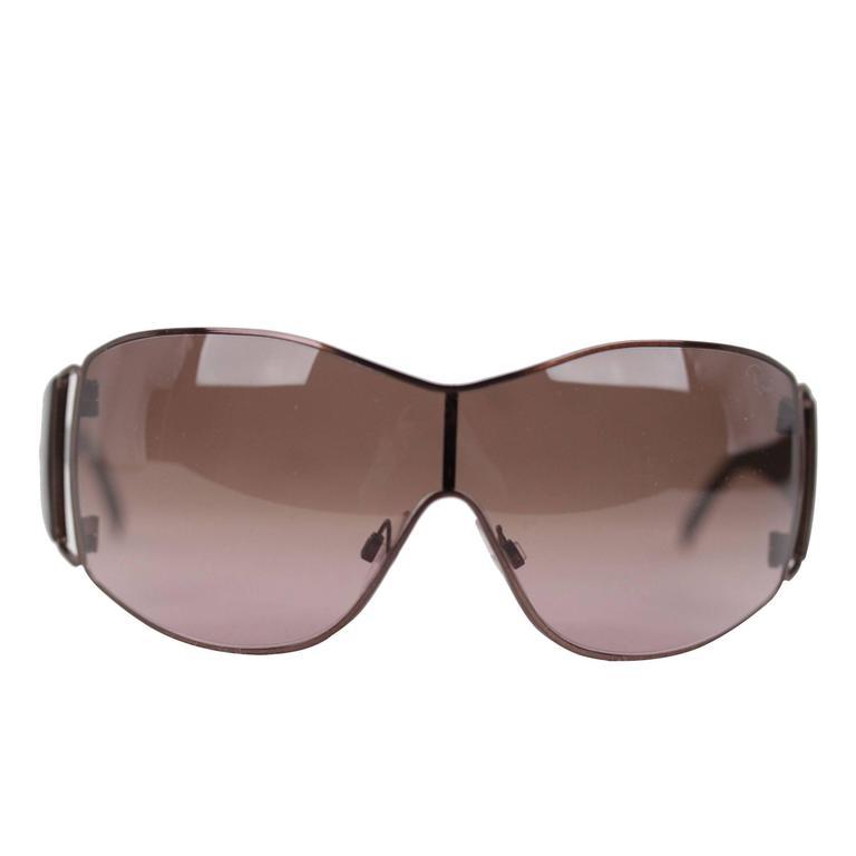 8b4e67d087 ROBERTO CAVALLI Sunglasses Mod. ATREO 221 S C89 128 125 Brown Metal Eyewear  at 1stdibs