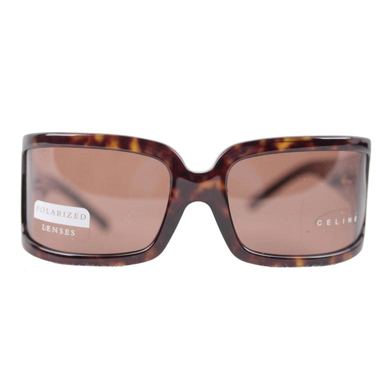 f6f75e1fc6 CELINE PARIS brown tortoise SUNGLASSES SC 1561 col 722 EYEWEAR polarized  Lens For Sale