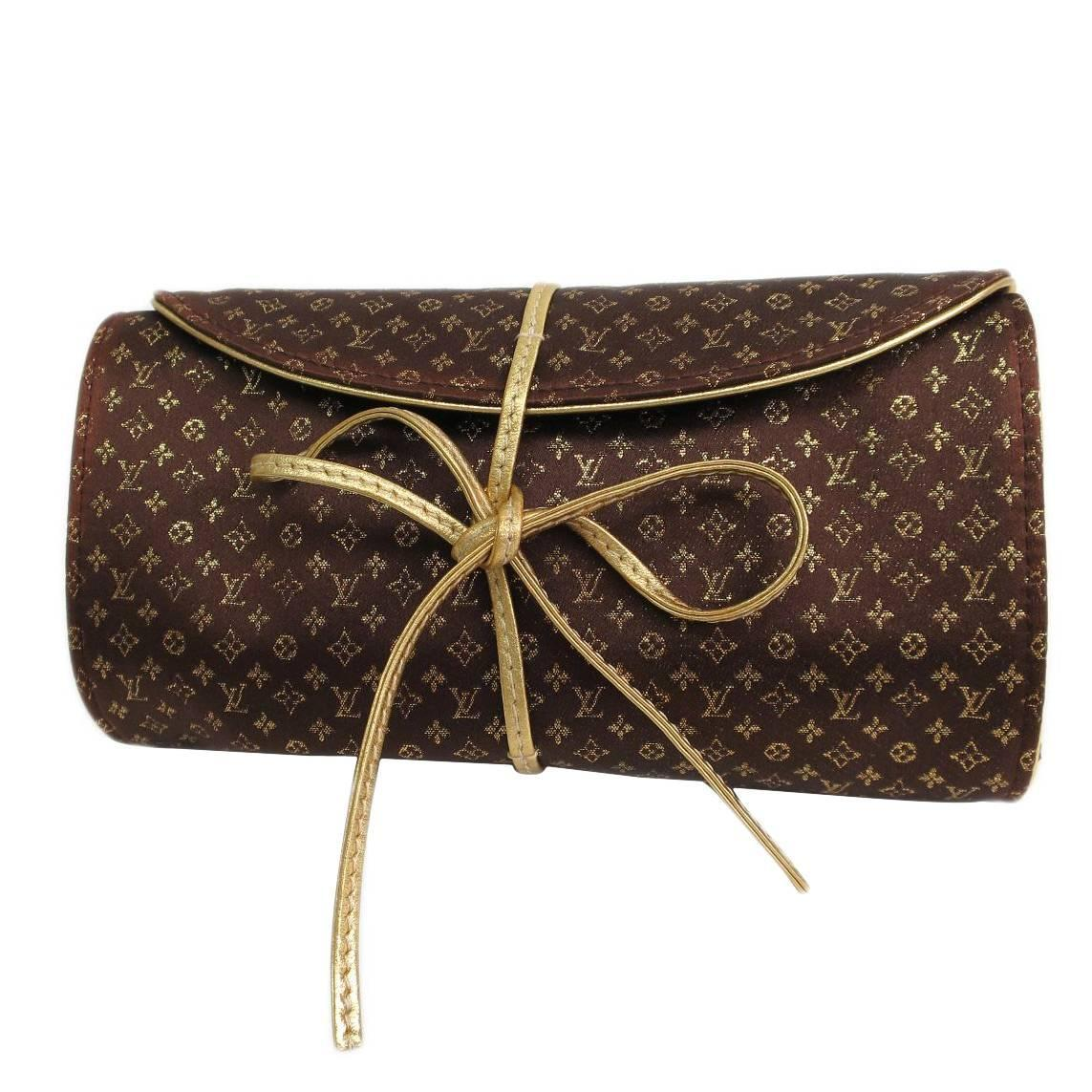 Louis Vuitton Monogram Logo Print Roll Up Jewelry ...
