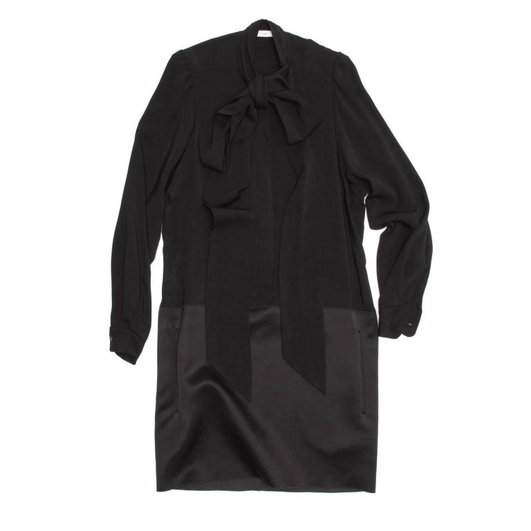 Celine Black Drop Waist Dress