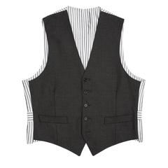 Thom Browne Charcoal Grey Wool Vest