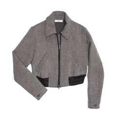 Prada Grey Wool Bomber Jacket