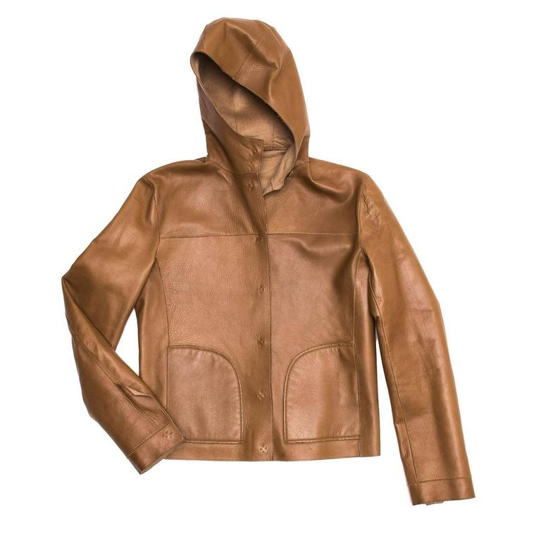 Prada Camel Hair & Leather Reversible Jacket 1